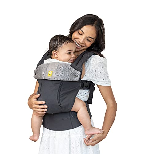 LÍLLÉbaby Complete All Seasons All-Positions Baby Carrier, Charcoal/Silver