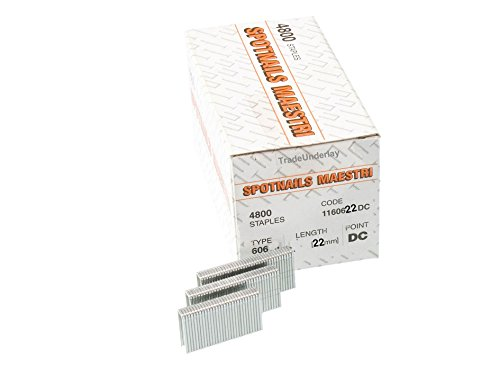 Spotnails maestri 60622 flooring Staples 606/22mm x 4800 by Spot Nails