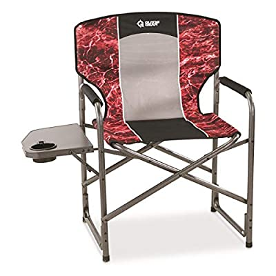 Guide Gear Oversized Director's Camping Chair, 500-lb. Capacity, Mossy Oak Elements Agua, Mossy Oak Agua Crimson