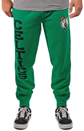 Ultra Game NBA Boston Celtics Mens Basic Soft Terry Jogger Pants, Team Color, Small