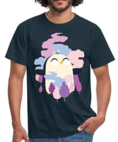Spreadshirt Adventure Time Mit Finn Und Jake Günther Gottheit Männer T-Shirt, XL, Navy