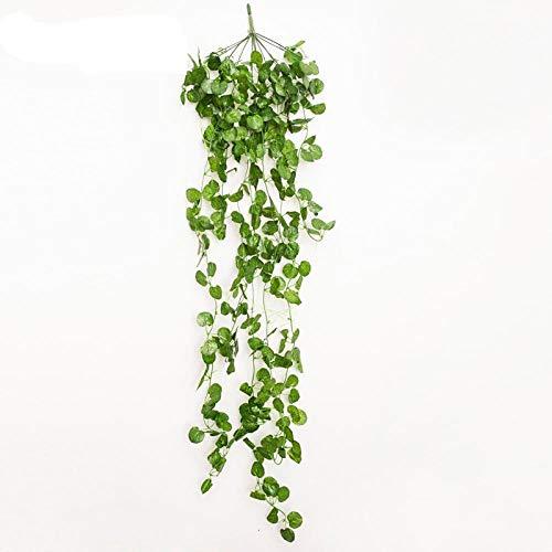 Generies Künstliche Girlande handgemachte Girlande Blätter grün Hochzeit Bühne Bogen Wand Dekor Begonialeafwallhanging