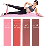 Your Choice Resistance Bands for Legs and Butt Exercise Bands Workout Bands for Women Color Peach 12 x 2 Inch Set of 4