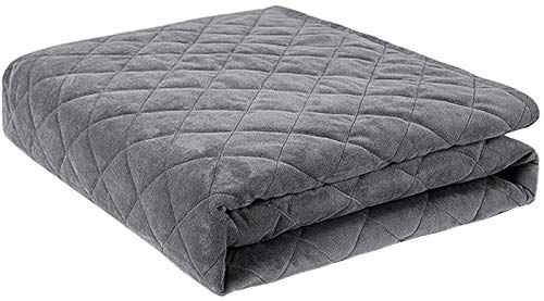 Chihen Gray Weighted Blanket Duvet Cover Super Soft And Breathable Bedding Of Velvet Fabric - Machine-Washable Comforter Sheet With Zipper (Size : 200 * 230cm)