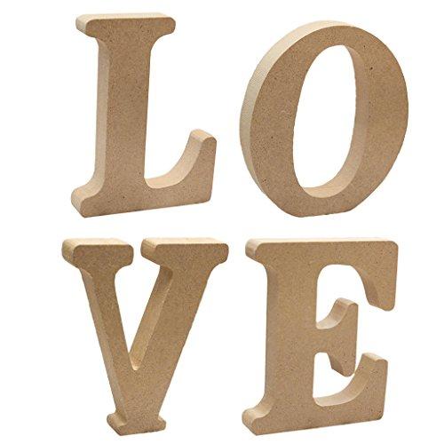 Homyl DIY Holz Alphabet Briefe Buchstaben für Geburtstag - Love