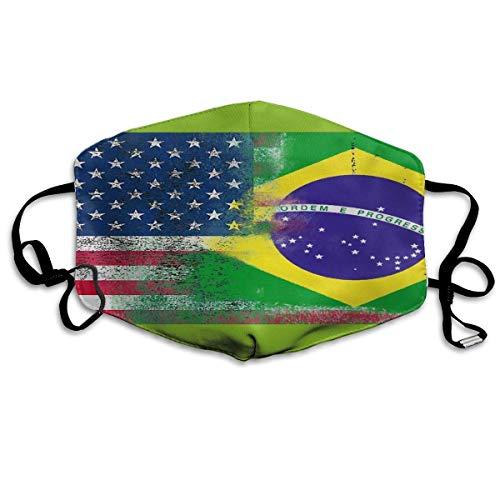 CAIQ Unisex Full-Coverage tube gezicht pleister bandanas UV-bescherming hals gamasche hoofdband Ameriacan vlag in groen