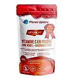 Vitamine C en poudre 1Kg ultra fine Premium, Acide L-Ascorbique Pure E300, Végans-Végétariens, Halal, Casher, Sans OGM, Sans additifs, Sans Gluten, Booster Immunitaire, Cuillère doseuse 1000mg incluse