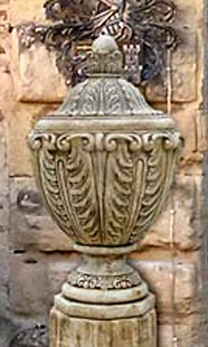 pompidu-living Deckelvase, Amphore Caracalla H 100 Farbe Weißantik