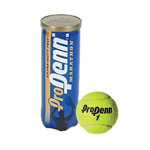 Pro Penn Marathon - Extra Duty Felt Hard Court Tennis Ball Cans in Multi-Packs, 3 Balls Per Can (12 Cans = 1/2 Case)