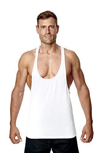 AA Sportkleding | Heren Stringer Vest Mouwloos Top Racerback Katoen | voor Gym Sports Bodybuilding Gewichtheffen | Activewear Top Vest Hoge kwaliteit