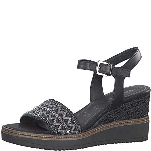 TAMARIS ALIS Sandalen/Open schoenen dames Zwart Sandalen/Open schoenen
