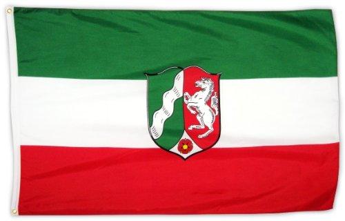 MM Nordrhein-Westfalen Flagge/Fahne, 150 x 90 cm, wetterfest, mehrfarbig, 16197