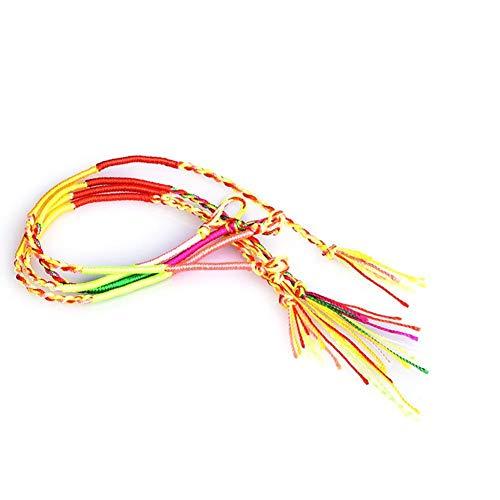 MUGBGGYUE Pulsera de cuerda trenzada de mano con hilo colorido de la suerte