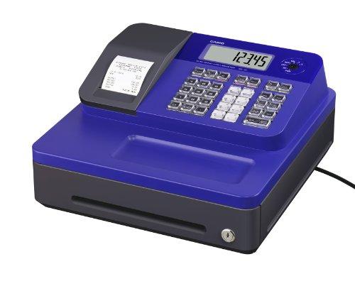 Casio SE-G1SB-BU Registrierkasse mit kleiner Geldlade, Thermodruck Kundenanzeige, blau - Für Deutschland und Österreich nicht geeignet