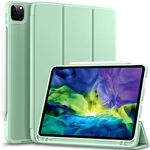 Vobafe Hülle Kompatibel mit iPad Pro 11 2020 & 2018, TPU Schutzhülle mit Stifthalter für iPad Pro 11 Zoll [Unterstützen Sie Pencil der 2. Generation] [Auto Wake/Sleep] [Voller Schutz], Matcha Grün