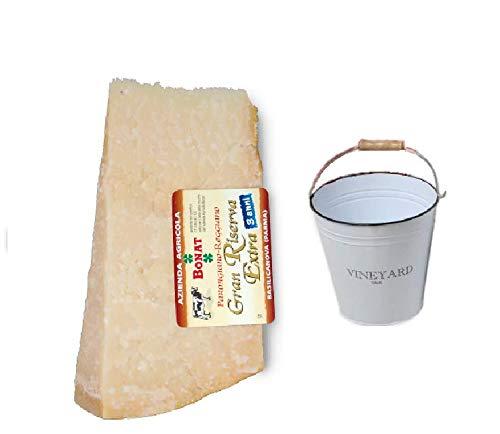 Parmigiano Reggiano Bonat 1KG im Alter von 24 Monaten + gerundet Sektkübel im Preis inklusiv