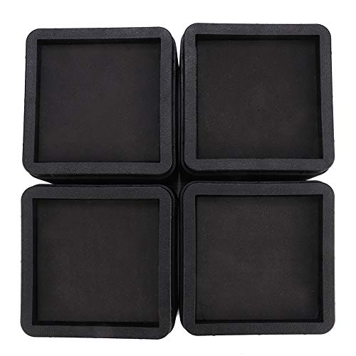 SOONHUA Möbelerhöhung, verstellbar, quadratisch, für Sofa, Couch, Tisch, 4 Stück
