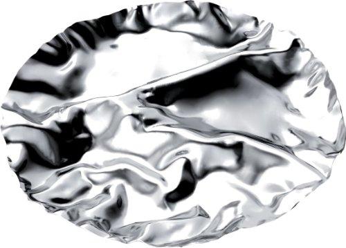 Alessi Antipastiplatt 4 Abteilungen, Edelstahl 18/10 glänzend poliert, 3.5 x 34.5 x 41 cm