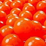 KiddyMoon 100 ∅ 7Cm Bolas Colores De Plástico para Piscina Certificadas para Niños, Naranja