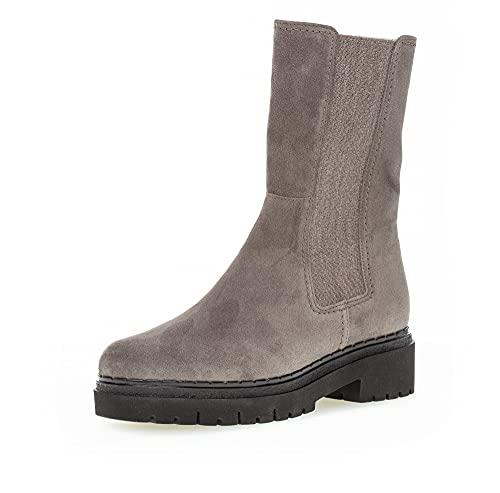 Gabor Damen Chelsea Boots, Frauen Stiefeletten,Wechselfußbett,Moderate Mehrweite (G),Bootee,Booties,halbstiefel,Wallaby (Micro),38 EU / 5 UK