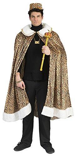 Funny Fashion Afrikanischer König Kostüm für Afrika, Umhang Dschungelkönig, Afrikaner Dschungelkrieger Karneval Prolet