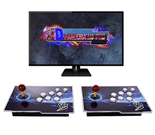 N/D Juegos Retro Consola Maquina Arcade,11S Full HD Retro 2 Player Video Arcade Game Console con Dos joysticks Separados 3D Pandora's Box con 3399 Retro Games para PC / Laptop / TV / PS3.