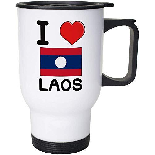 Stamp Press 400ml 'I Love Laos' Wiederverwendbarer Kaffee / Reise-Becher (MG00001031)