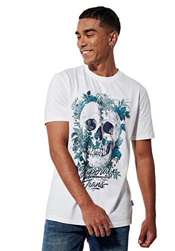 Kaporal - T-Shirt régular Homme avec imprimé tête de Mort en 100% Coton - Vopok - Homme - S - Blanc
