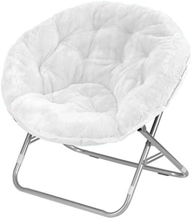 Best Urban Shop Faux Fur Saucer Chair, White