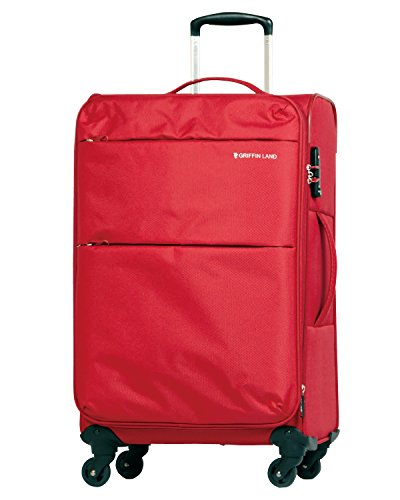 M型 レッド / AIR6327(solite)スーツケース キャリーケース ソフト TSAロック搭載 中型