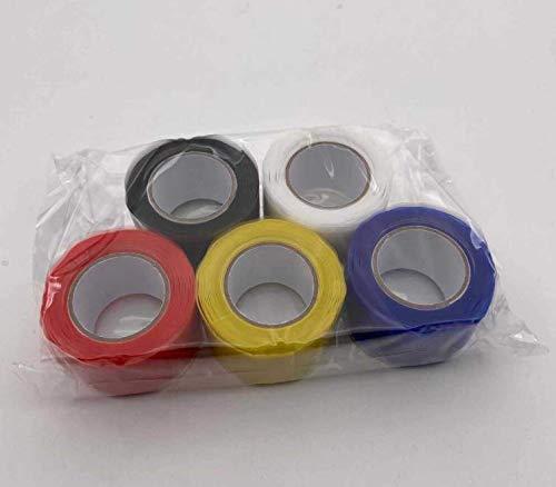 Heiqlay Cinta de Silicona de Autofusión, Cinta de Reparación, Cinta Impermeable Autoadhesiva, cinta adhesiva fugas agua para tuberías de emergencia (2 piezas, 0,5 mm x 25 mm x 1,5 m, negro)