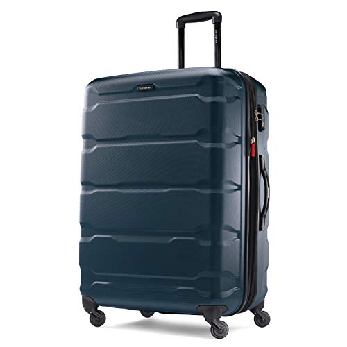 Samsonite Omni PC Hardside Luggage, Teal, Checked-Large