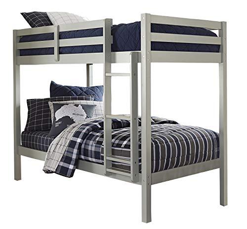 Hillsdale Kids and Teens Caspian Twin Bunk Bed, Twin/Twin, Gray