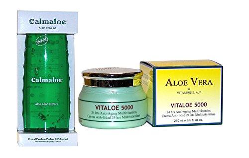 Canarias Cosmetics VITALOE 5000-250 ml + Canarias Cosmetics Calmaloe ALOE VERA GEL 300 ml
