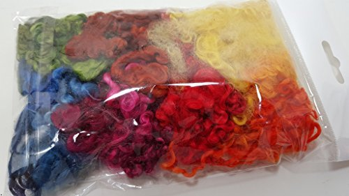 Unbekannt Filzen Wensleydale Locken 20g, Floating Colours gemischt,bunt