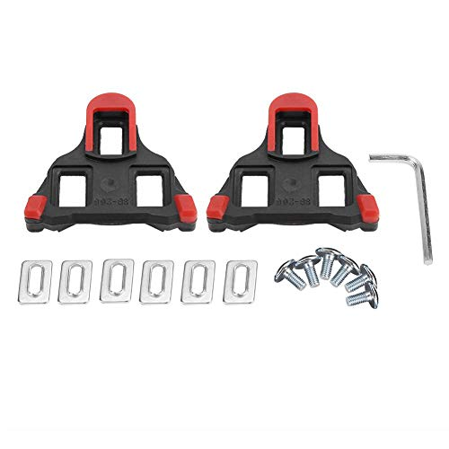 1 Paire Adaptateur de Pedales Automatiques, Taquets de Pédale Vélo à Verrouillage Automatique, Clé pour Vélo de Montagne (Rouge)