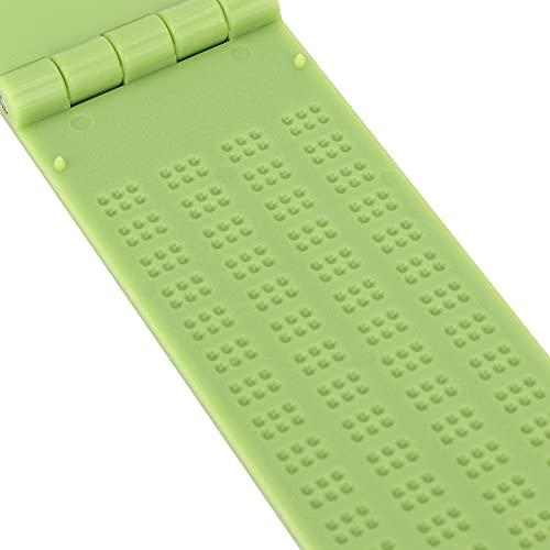 Mothinessto Kit De Pizarra Braille, Herramienta De Escritura Braille Pizarra De Escritura En Braille Artesanía para Ciegos para Escuelas De Educación Especial para El Aprendizaje De Braille