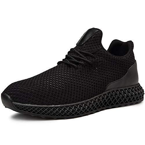 Zapatos de Cuero, Zapatos Casuales, adecuados para Zapatillas de Deporte de Moda para Hombres, Zapatos de Entrenamiento Transpirables de Cordones, Tela de Malla de Punto Súper Liviana