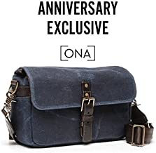 ONA - The Bowery - Camera Messenger Bag - Waxed Canvas (One_Size, Navy Blue Waxed Canvas & Leather)