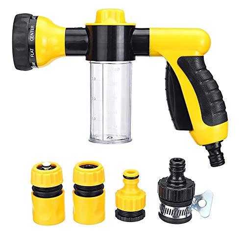 Schuim waterpistool set, hoge druk Multifunctie 8 in 1 Jet Spray G-Un zeep dispenser slang mondstuk auto wassen schoonmaken gereedschap tuin water geven