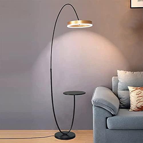 FYRMMD Lámpara de pie, Lámpara de pie de Metal con Bandeja, Brillo Regulable y temperaturas de Color Lámparas de Lectura de pie con (lámpara de pie)
