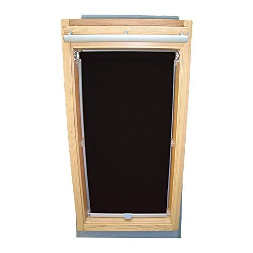 Easy-Shadow Dachfenster Abdunkelungsrollo Basis Rollo für Typ Roto WDF 735 H 735 K 73_ Größe 7/11 - in der Farbe schwarz
