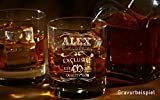 Whiskyglas mit Gravur - personalisierbar - moderne Motive & 10 Schriftarten - 1-2 Tage Lieferzeit - von Your Gravur - Motiv: Name & Jahr - 4