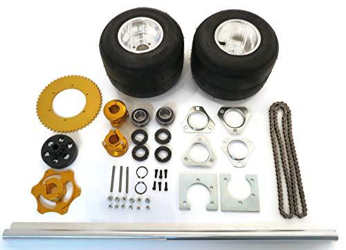 | 40 Inch Shaft Kit for Trike Drift Bikes includes (2) Go Kart Tires 11x6.00-5