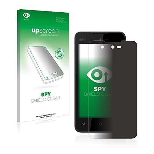 upscreen Anti-Spy Blickschutzfolie kompatibel mit Wiko Sunset 2 Privacy Screen Sichtschutz Bildschirmschutz-Folie