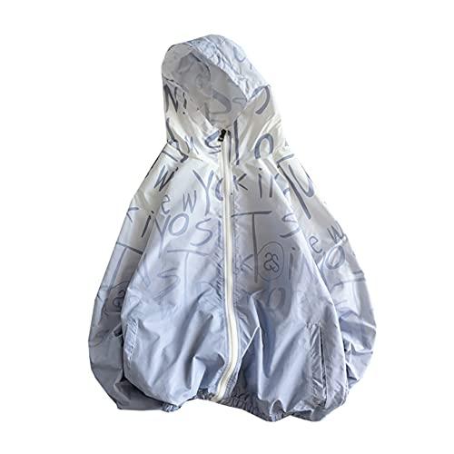 日焼け止めジャケット uvカットガード レディース 学生 大きいサイズ グラデーション 超軽量 長袖 オシャレ ゆったり 通気性 速乾性 紫外線防止 フード付き ジップアップ 前開き サマーアウター アウトドア ビーチ