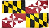 FlagSource Maryland Nylon State Flag, Made in the USA, 3x5