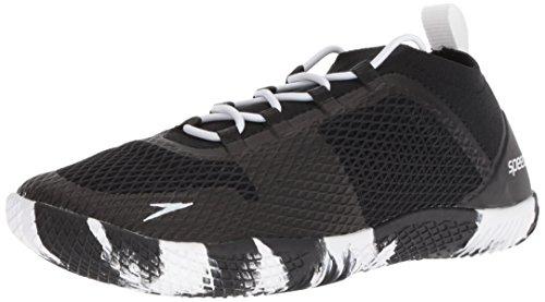 Speedo Women's Water Shoe Fathom AQ Athletic, Black/White, 8