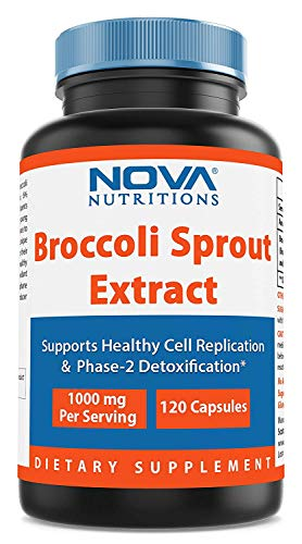 Nova Nutritions Broccoli Sprout Extract 1000 mg 120 Capsules