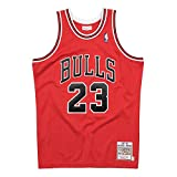 Mitchell & Ness Chicago Bulls Authentic Michael Jordan #23 Red 1997/98 Hardwood Classics Road Jersey (Medium)